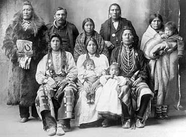 Blackfoot Indian Family with Children