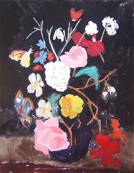 Bella Foster. : Black Backgrounds, Wayne Pate, Artworks, Bright Color, Still Life, Bella Foster, Prints, Paintings, Flower