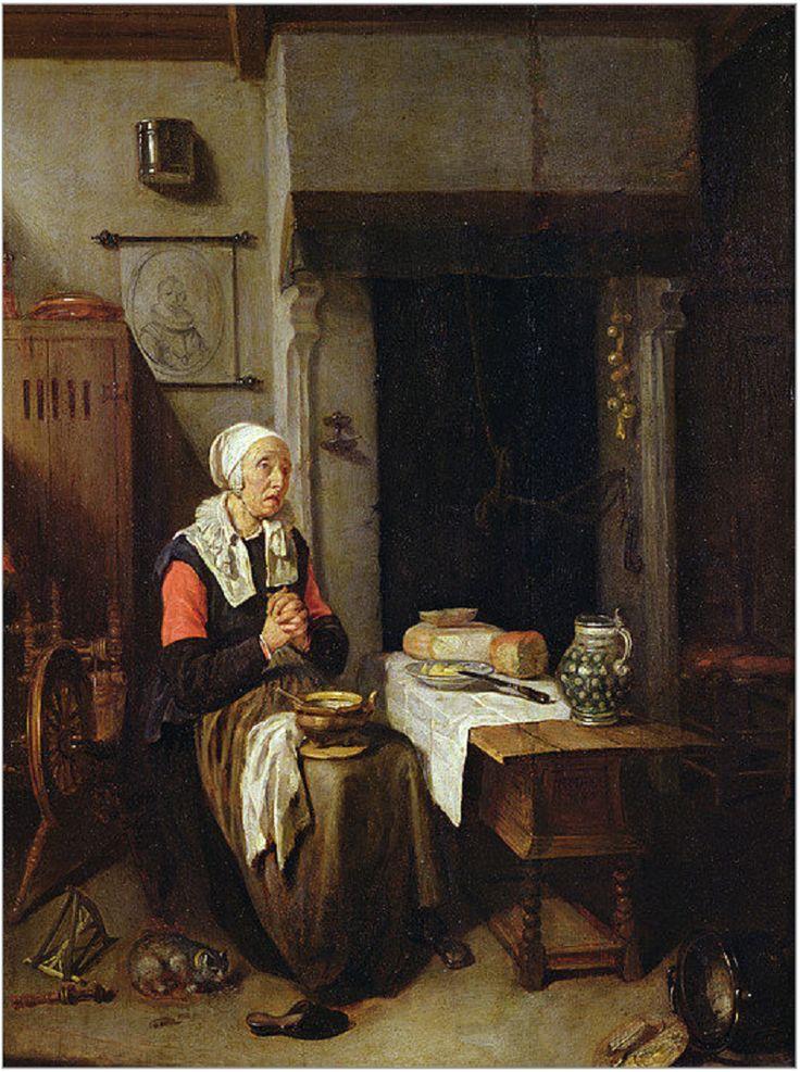 Жан Батист Симеон Шарден. Молитва перед едой. 1744 г.
