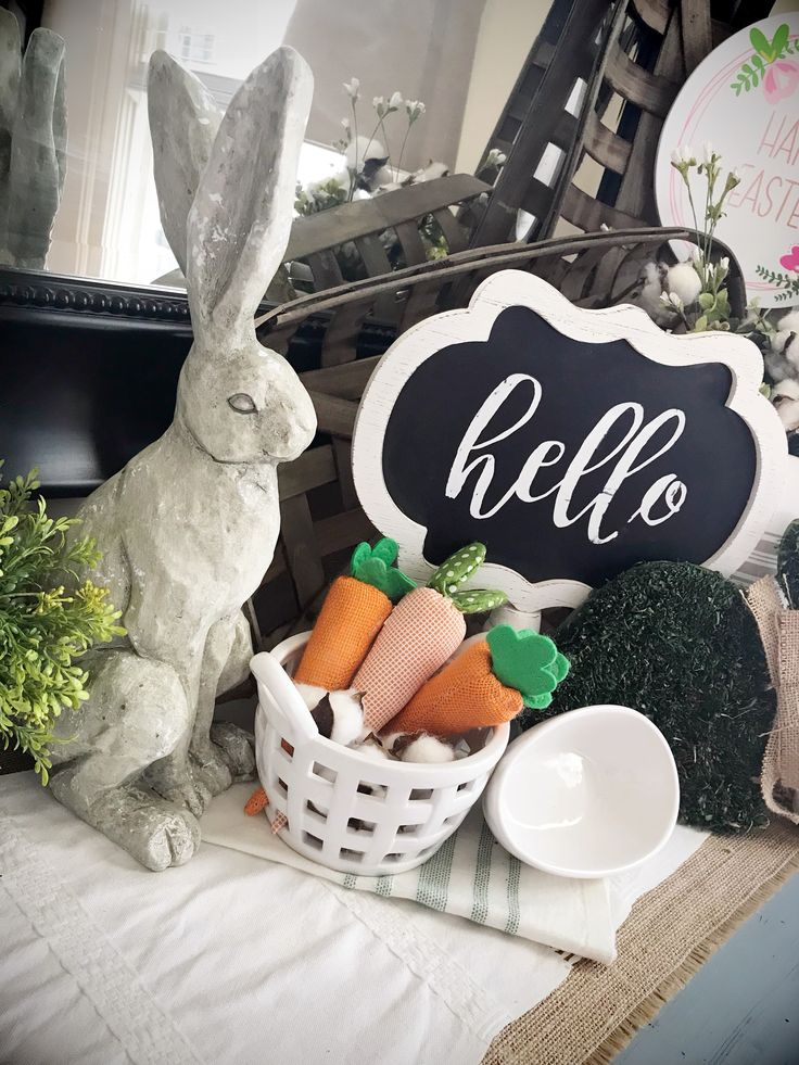 Farmhouse Easter Decor by using Target bills eye deals and Decor from Triple Image Design & Decor