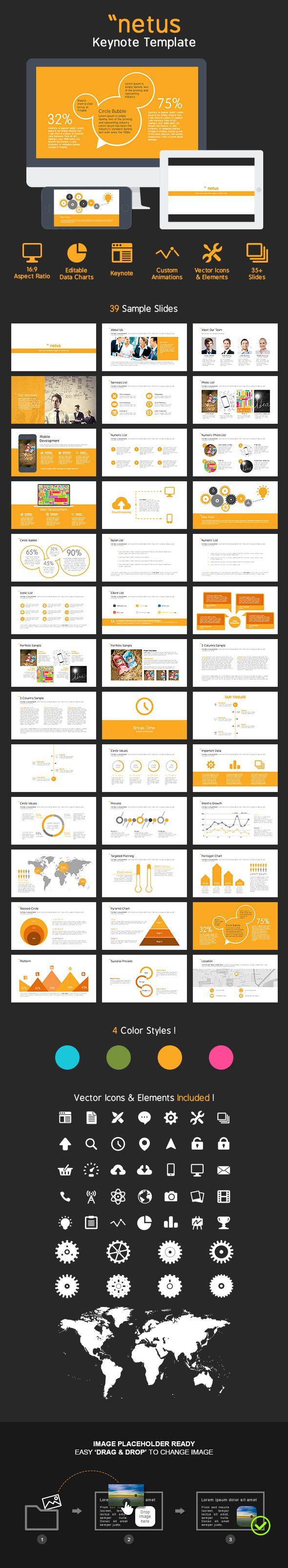 Keynote Presentation Template #keynote #keynotetemplate #presentationtemplate Download: http://graphicriver.net/item/netus-keynote-presentation-template/7447459?ref=ksioks