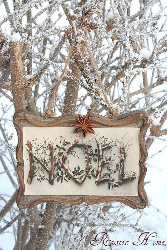 Twig Noel Sign @ RUSTIC HOME