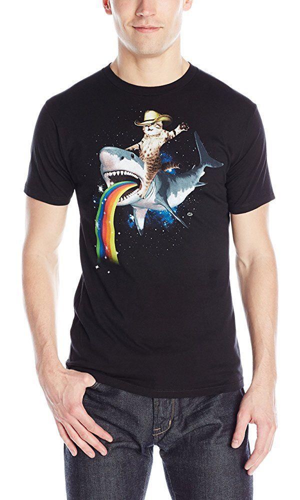 Goodie Two Sleeves Men's Bucking Sharkaroo T-Shirt, Black, Medium Best Price
