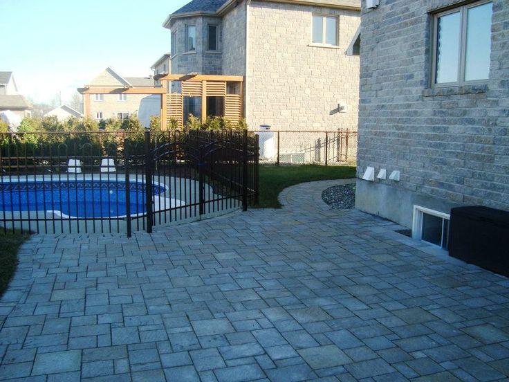 7 best Pavage pourtour de piscine creusée à Québec images on - prix de construction d une maison