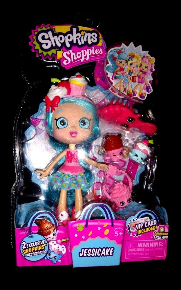 SHOPKINS SHOPPIES JESSICAKE & VIP CARD + 2 EXCLUSIVES SHOPKINS COMBINED SHIPPING #MooseToys