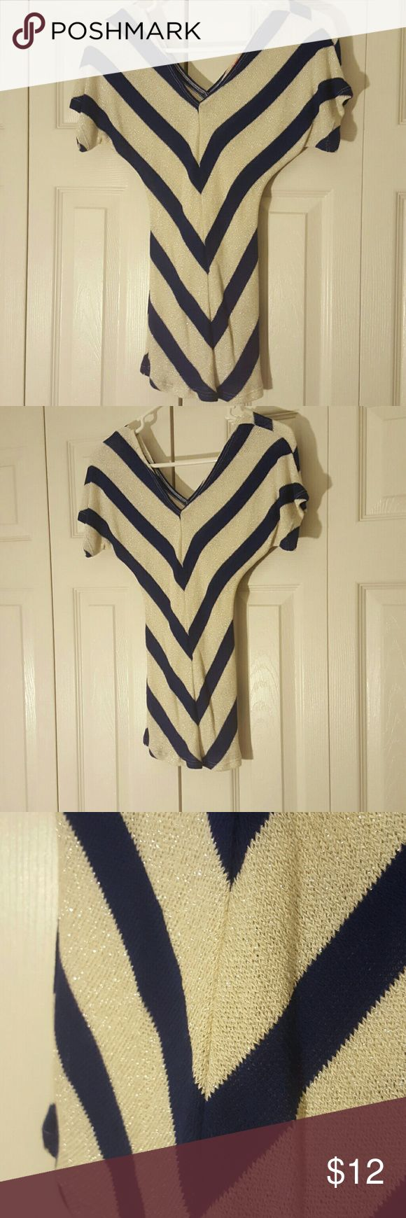 Body Central Knit Top Womens Body Central Knit Top - Blue/Silver - Never Worn Body Central Tops
