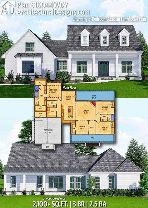plan 510044wdy charming 3 bedroom acadian farmhouse plan house rh pinterest com