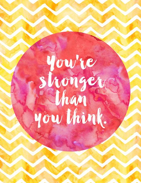 Youre Stronger Than You Think Inspirational Quotes Pinterest