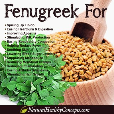 Benefits of Fenugreek (digestive aid, menstrual relief, skin soother, and more) #health #nutrition #herbs