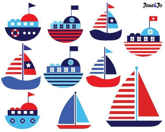 Sailboat On the Sea Clip Art