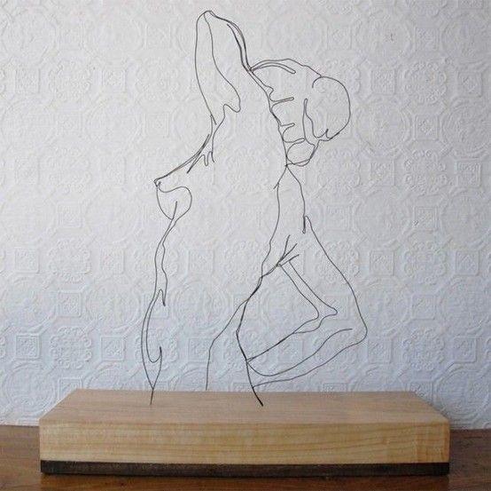 Fil de fer. wire sculptures by gavin worth