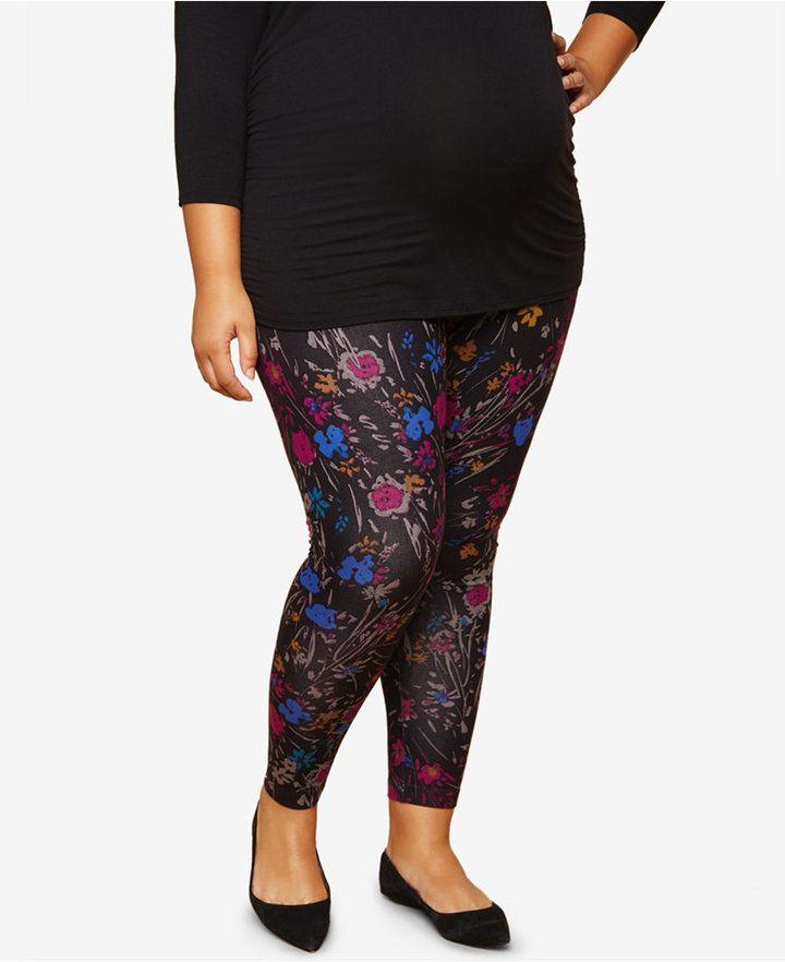 Maternity Plus Size Printed Leggings #Ad