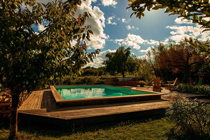 8 best images about mini piscines en bois on pinterest for Piscine semi enterree