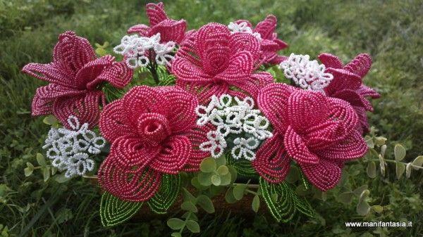 rose rosse di perline tutorial