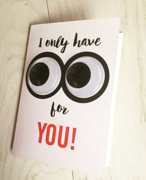 Cute card with goggly eyes