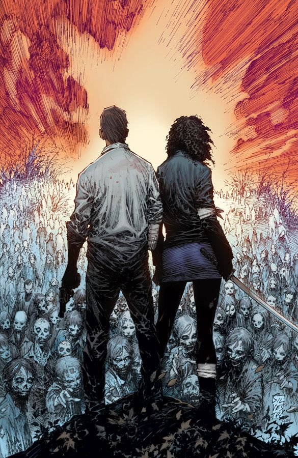 Issue 100 of The Walking Dead hits the stores soon. Apparently there's gonna be a major culling of characters in what's billed to be the most bloody issue yet. As long as they keep Rick, Michonne, Glenn, Andrea, and Carl alive, then everybody else is expendable. #comics #graphicnovels