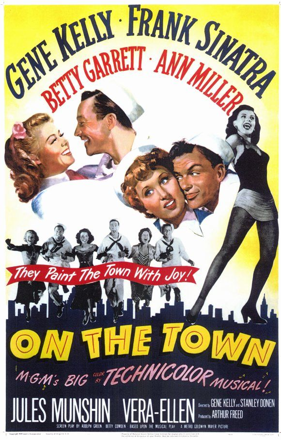 On the Town (1949): Three sailors on a day of shore leave in New York City look for fun and romance before their twenty-four hours are up.