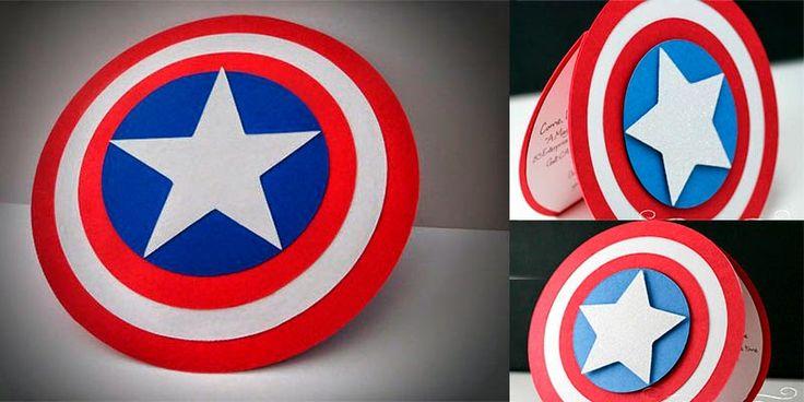 Invitacion Avengers - Capitan America. Invite party