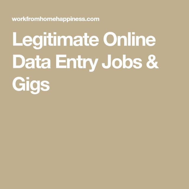 Legitimate Online Data Entry Jobs & Gigs