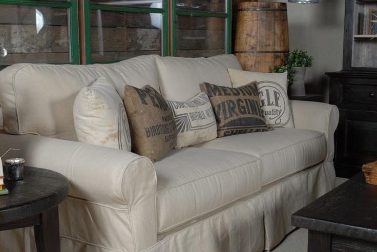 feed sack pillowsRoom Slipcovers, Dining Room, Living Rooms, Decor Ideas, Livingroom, Decorating Ideas, Old Windows, Slipcovers Sofas, Room Dividers