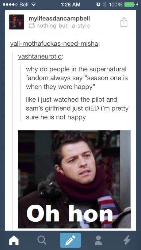 This person has no idea what kind of feels they're in for ~ Supernatural Fandom