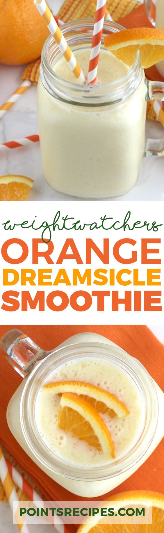 Orange Dreamsicle Smoothie (Weight Watchers SmartPoints)