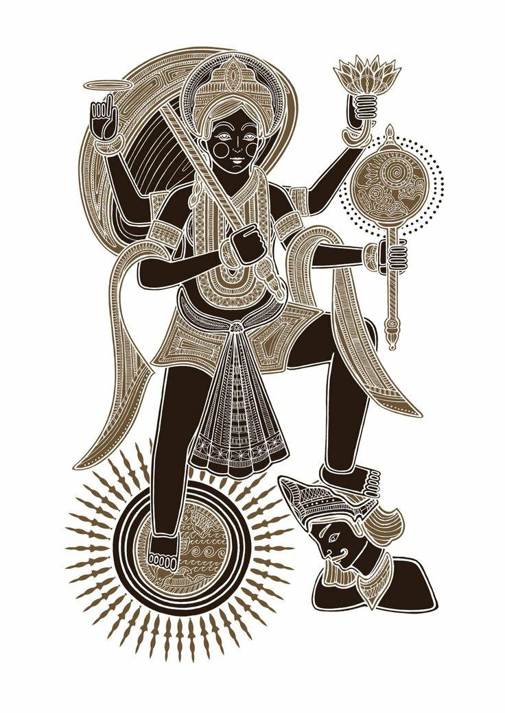 Narasimha (half lion and half man) by Poonam Mistry The fifth avatar of Lord Vishnu.