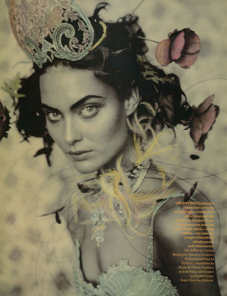 Amber Valltta & Shalom Harlow photographed by Paolo Roversi - Vogue UK: May 1996 - Rainbow Warriors