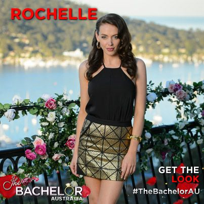 Rochelle looking fabulous in her black and gold outfit.