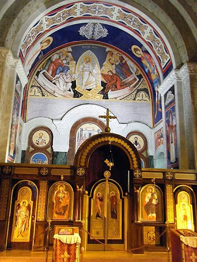 Inside of a Serbian church