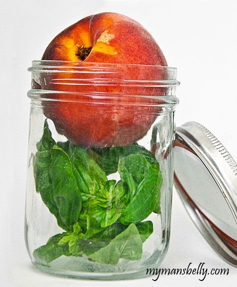 Fresh Peach Preserves with a hint of vanilla and basil