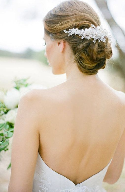 EVERLY pearl bridal headpiece