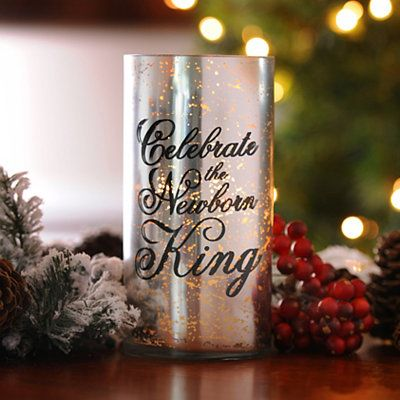 let soft candlelight illuminate the newborn king silver mercury glass candle holder and watch it give your christmas dcor a bright touch