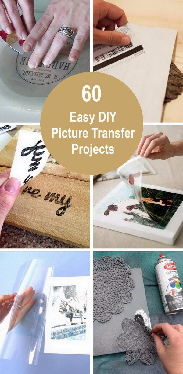 60 Easy Diy Picture Transfer Projects With Images Picture On