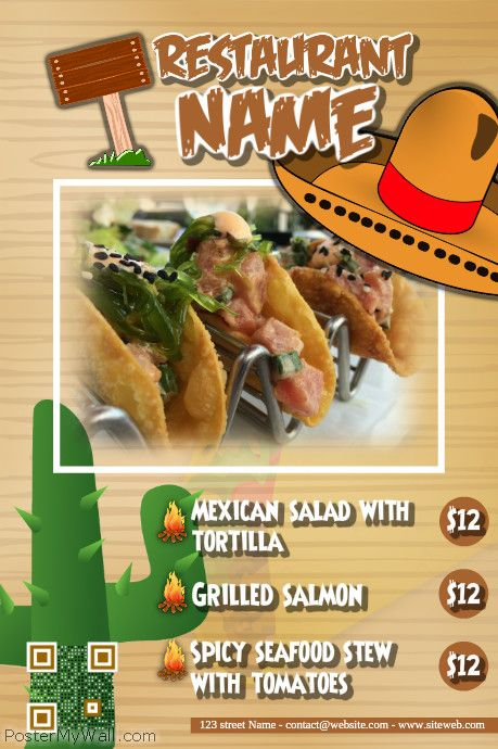 Taco Restaurant Flyers Http Www Postermywall Com Index