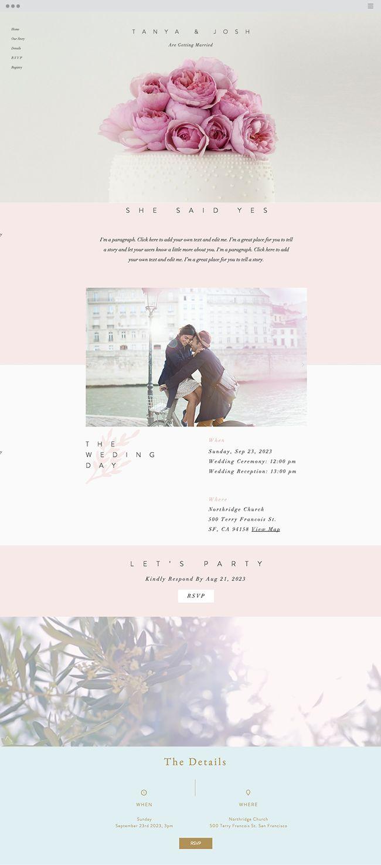 Classic Wedding Invite Website Template | Online Invitation