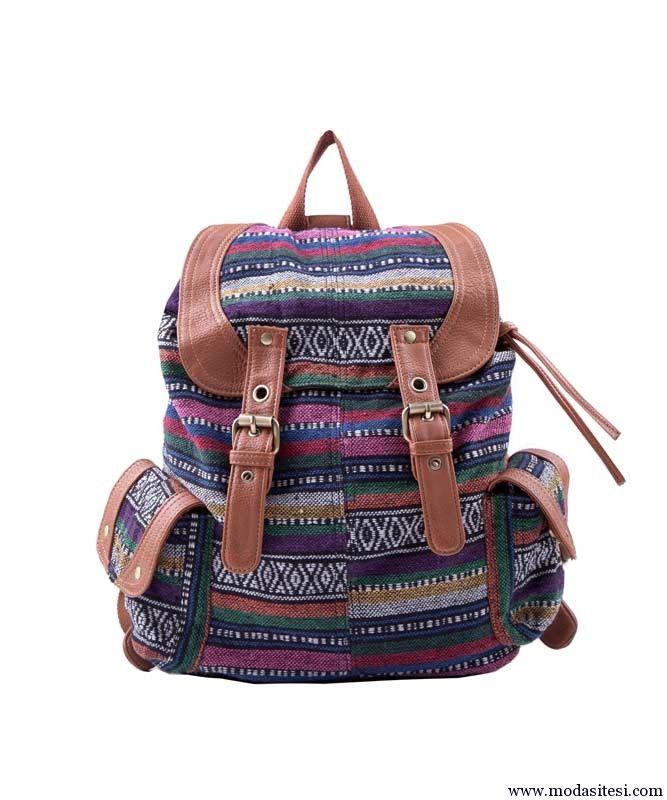 Örgü misali sırt çanta
