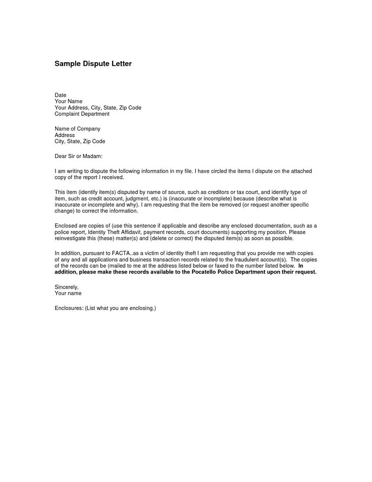 letter format throughout credit dispute visa withdrawal business request write letters