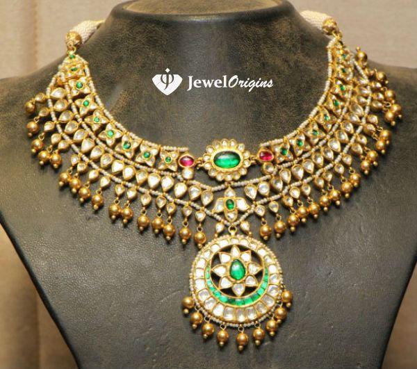 jewelorigins.com-Indian Designer Gold and Diamond Jewellery,Indian Bridal Jewellery: Kundan