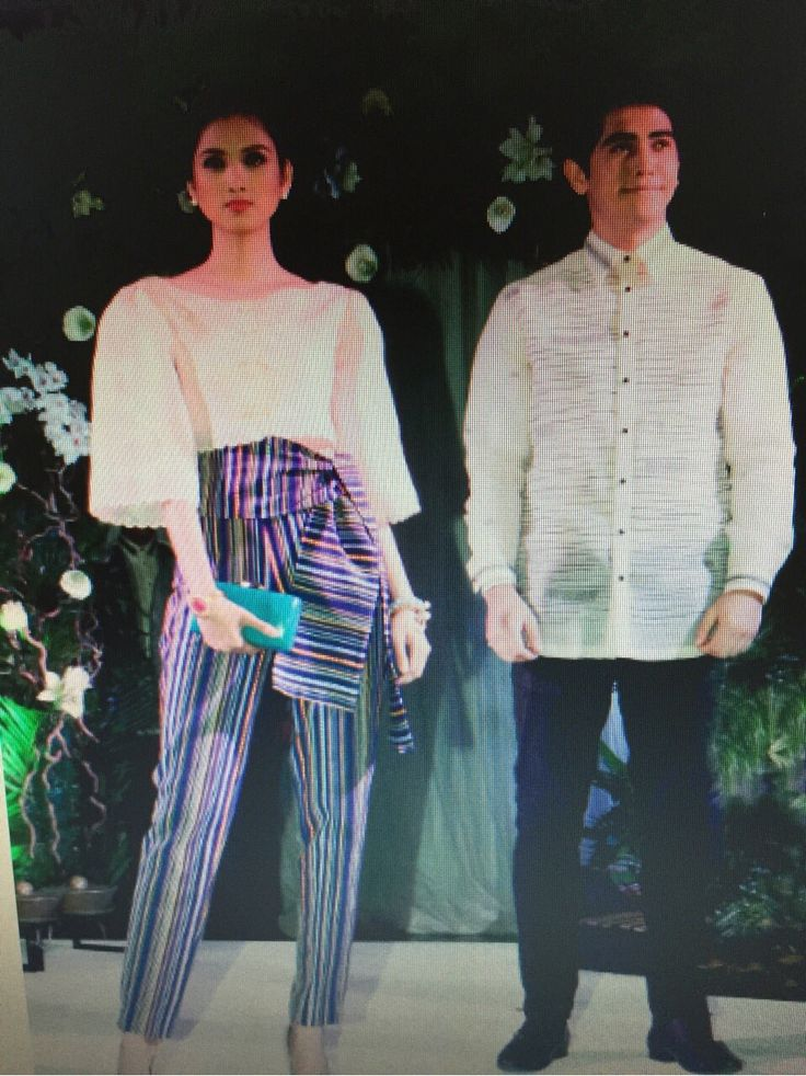 Cropped embroidered kimona and ethnic weave pants from Kultura