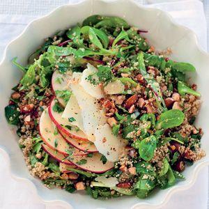 Winterse salade met quinoa en manchego