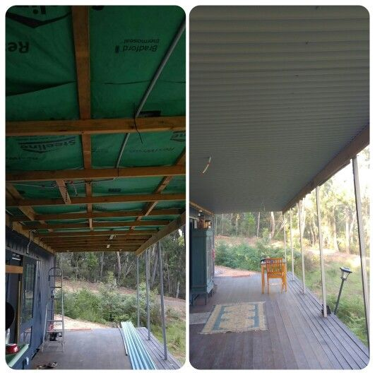 Fire safe roof for our shipping container home