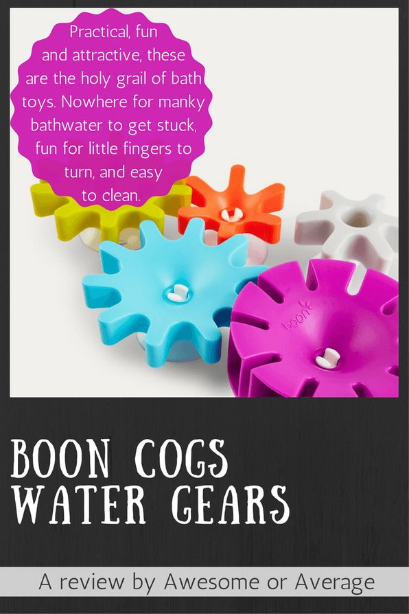 These fun, brightly coloured cogs are the holy grail of bath toys. Fun for kids, pretty to look at and easy to keep clean (nowhere for mold to grow on these!). Both my kids - 2.5y and 6m - love playing with these. Buy now from Amazon: http://amzn.to/2fpYx3k (affiliate link)