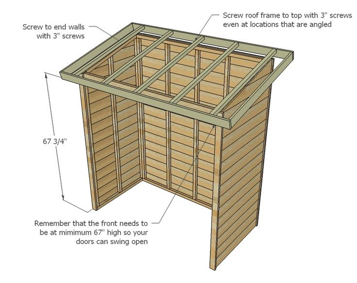 Ana White Build A Small Cedar Fence Picket Storage Shed
