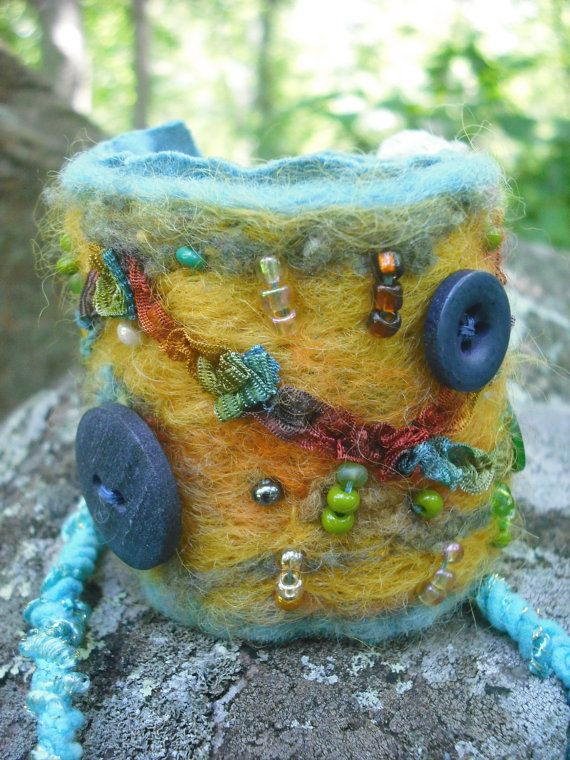 Beautiful felted cuff!