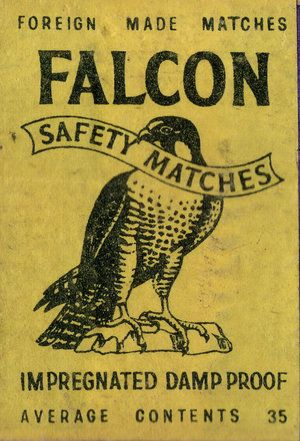 Falcon Safety Matches - Ulysses Black