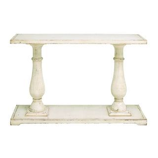 Wood Console Table (48 inches wide x 32 inches high) | Overstock.com Shopping - The Best Deals on Coffee, Sofa & End Tables