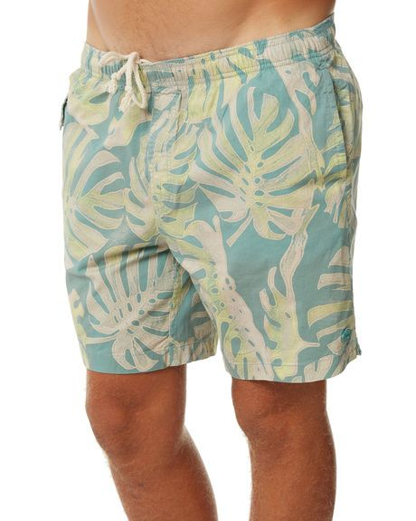 a579a87ffa GREEN FORAL MENS CLOTHING DEUS EX MACHINA BOARDSHORTS - DMS72964GRN ...