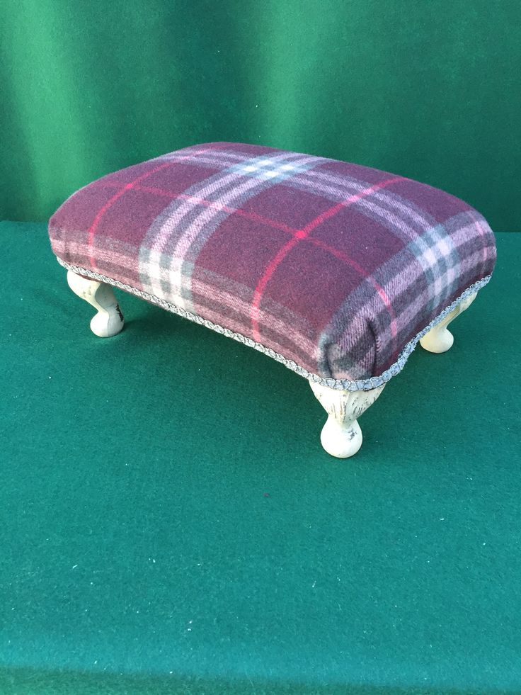 Small footstool by Peppershells Vintage