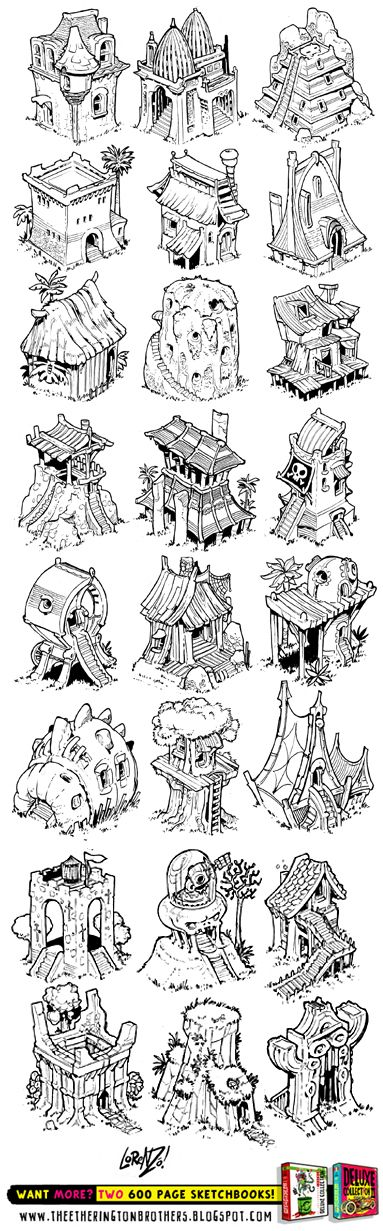 Here's the full set of castles I posted up recently, just CLICK HERE (or the thumbnail below) to get a BIG jpeg of them all! And then, why ...
